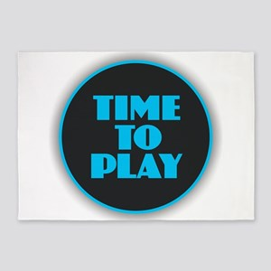 Time to Play - Blue 5'x7'Area Rug
