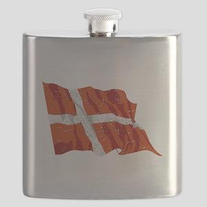 Denmark Flag (Distressed) Flask