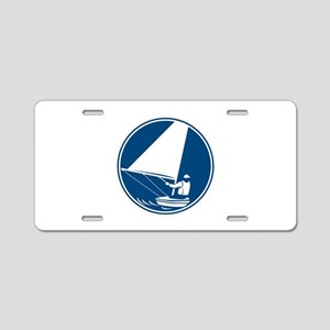 Sailing Yachting Circle Icon Aluminum License Plat