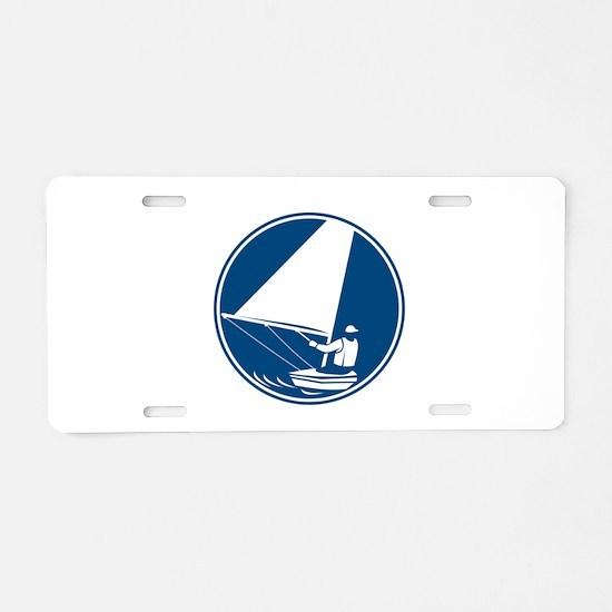 Sailing Yachting Circle Icon Aluminum License Plat