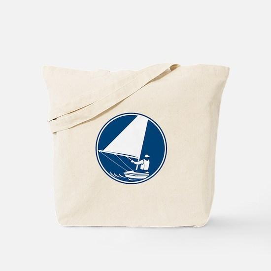 Sailing Yachting Circle Icon Tote Bag