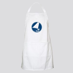 Sailing Yachting Circle Icon Apron