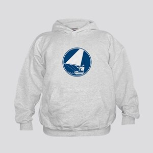 Sailing Yachting Circle Icon Hoodie