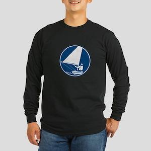 Sailing Yachting Circle Icon Long Sleeve T-Shirt