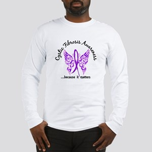 Cystic Fibrosis Butterfly 6.1 Long Sleeve T-Shirt