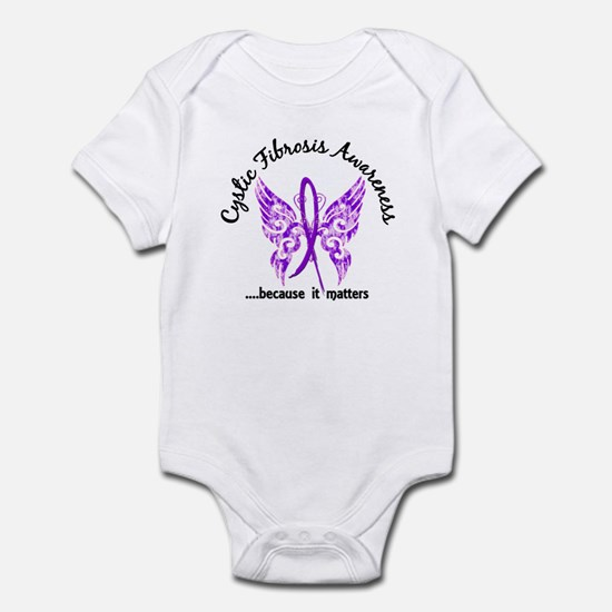 Cystic Fibrosis Butterfly 6.1 Infant Bodysuit