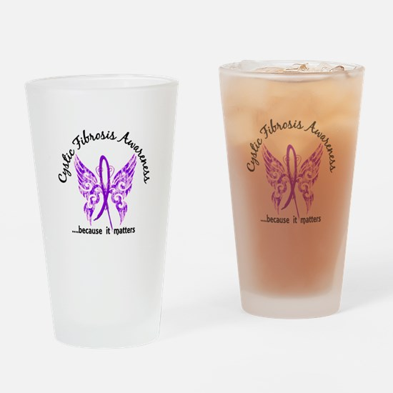 Cystic Fibrosis Butterfly 6.1 Drinking Glass