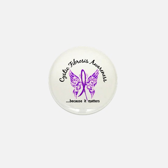 Cystic Fibrosis Butterfly 6.1 Mini Button