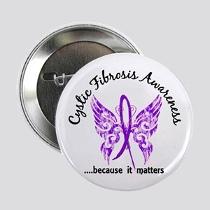 """Cystic Fibrosis Butterfly 6.1 2.25"""" Button"""