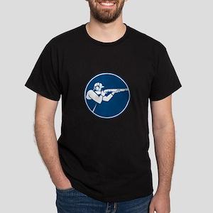 Trap Shooting Shotgun Circle Icon T-Shirt
