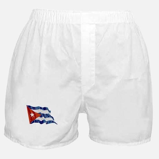 Cuba Flag (Distressed) Boxer Shorts