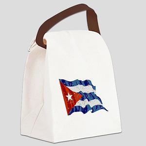 Cuba Flag (Distressed) Canvas Lunch Bag