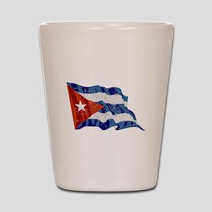 Cuba Flag (Distressed) Shot Glass