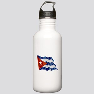 Cuba Flag (Distressed) Water Bottle