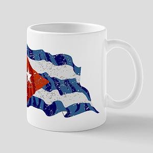 Cuba Flag (Distressed) Mugs