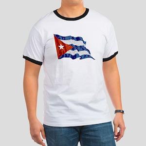 Cuba Flag (Distressed) T-Shirt