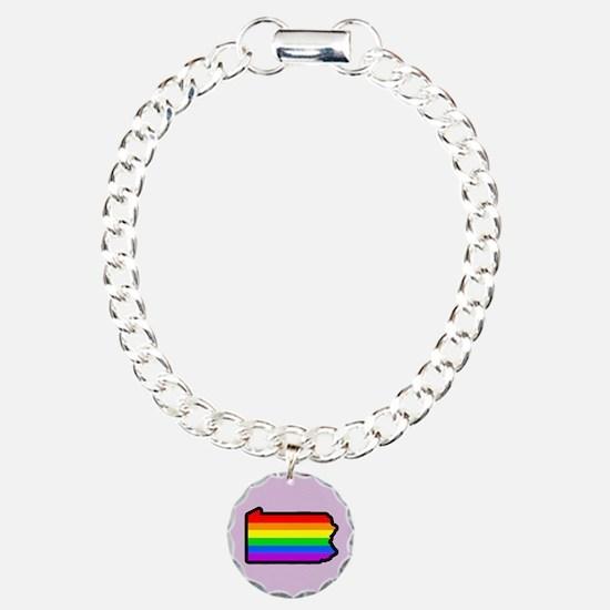 Rainbow Stripe State Bracelet