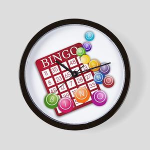 Las Vegas Bingo Card and Bingo Balls Wall Clock