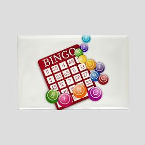 Las Vegas Bingo Card and Bingo Balls Magnets