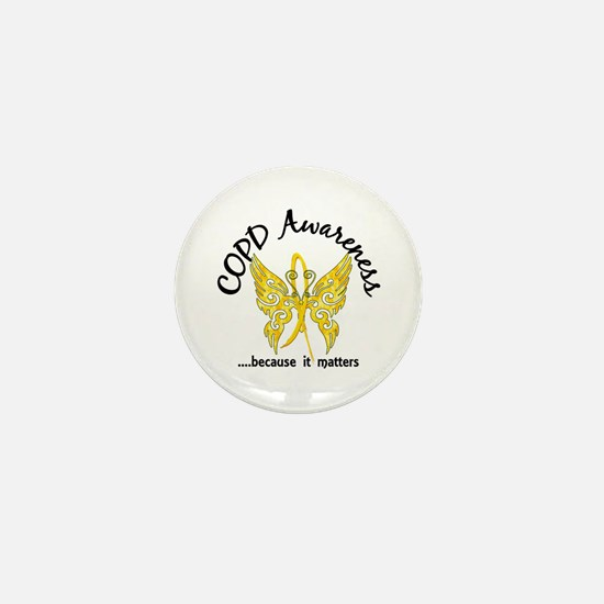 COPD Butterfly 6.1 (Gold) Mini Button