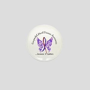 Congenital Heart Disease Butterfly 6.1 Mini Button