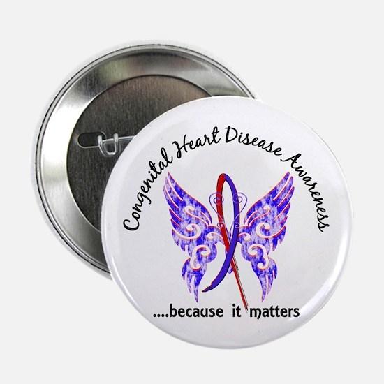 """Congenital Heart Disease Bu 2.25"""" Button (10 pack)"""