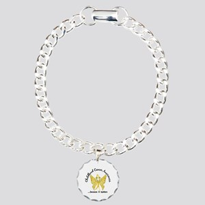 Childhood Cancer Butterf Charm Bracelet, One Charm