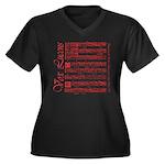 Vox Lucens #2 Women's Plus Size V-Neck Dark T-Shir