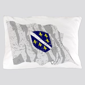 Bosnia Herzegovina Flag (Distressed) Pillow Case