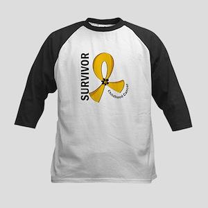Childhood Cancer Survivor 12 Kids Baseball Jersey