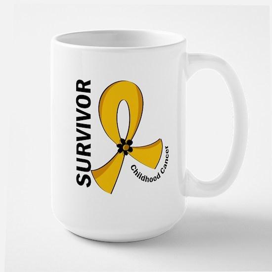 Childhood Cancer Survivor 12 Large Mug