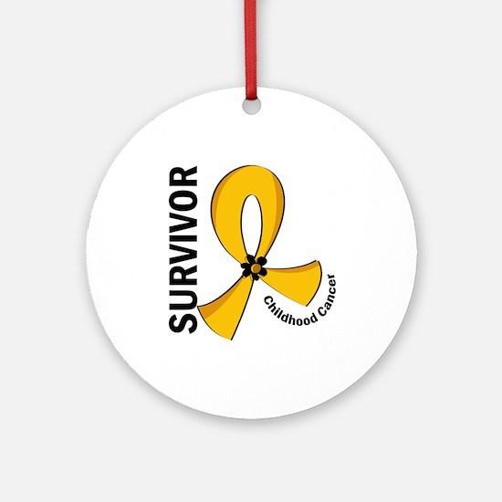 Childhood Cancer Survivor 12 Ornament (Round)