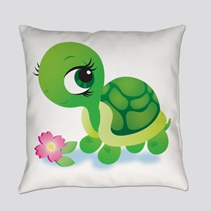 Toshi the Turtle Everyday Pillow