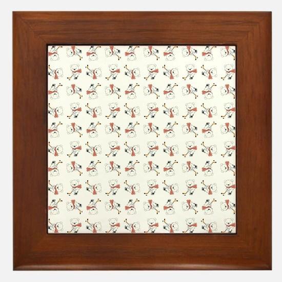 HOCKEY BEARS Framed Tile