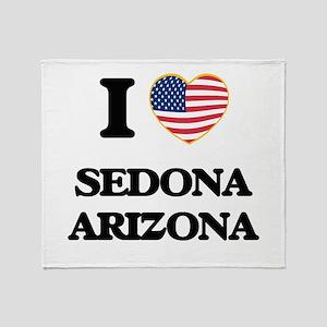 I love Sedona Arizona USA Design Throw Blanket
