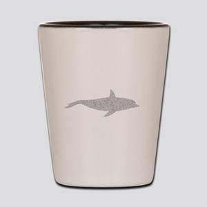 Distressed Grey Dolphin Shot Glass