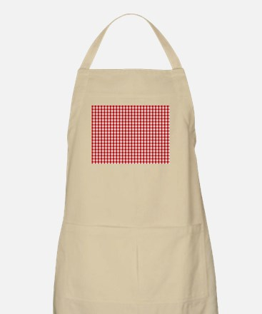Red Gingham Cloth Apron