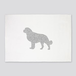 Distressed Grey Newfoundland 5'x7'Area Rug