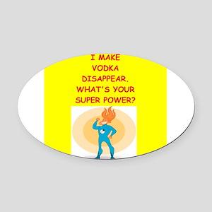 vodka Oval Car Magnet