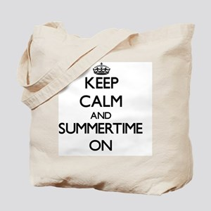 Keep Calm and Summertime ON Tote Bag