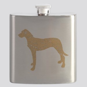 Distressed Brown Rhodesian Ridgeback Flask