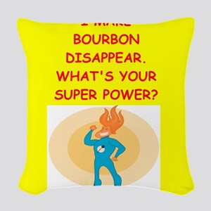bourbon Woven Throw Pillow
