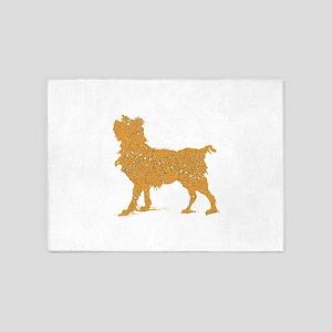 Distressed Brown Scruffy Dog 5'x7'Area Rug