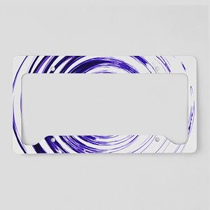Blue Bullseye License Plate Holder