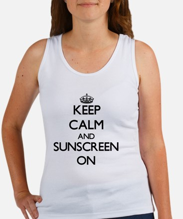 Keep Calm and Sunscreen ON Tank Top