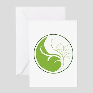 Nature Yin Yang Greeting Cards