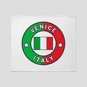 Venice Italy Throw Blanket