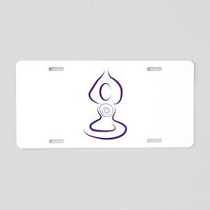 Yoga Symbol Aluminum License Plate