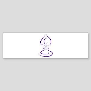 Yoga Symbol Bumper Sticker