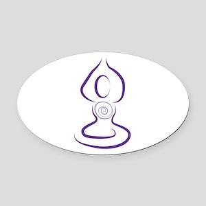 Yoga Symbol Oval Car Magnet